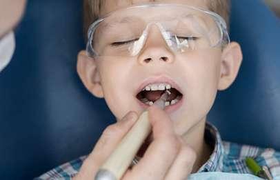 Child at dentist